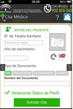 Aplicación Android cita previa medico Andalucía