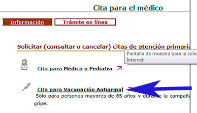 Cita previa vacuna Andalucía