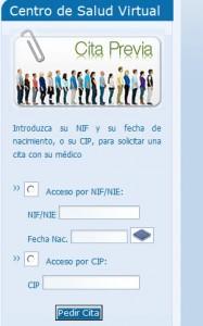 Solicitar cita previa en salud-Extremadura por Internet