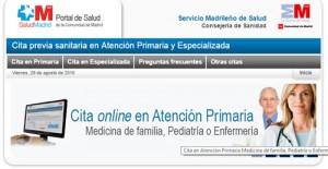 Tramitar cita previa en atención primaria por Internet en Madrid