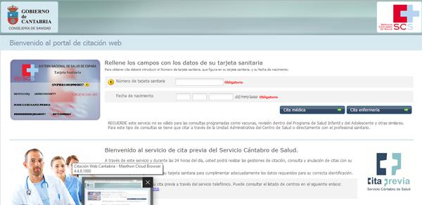 Cita Previa Medico En Cantabria Scs Servicio Cantabro De Salud